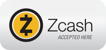 Zcash accepted here sign