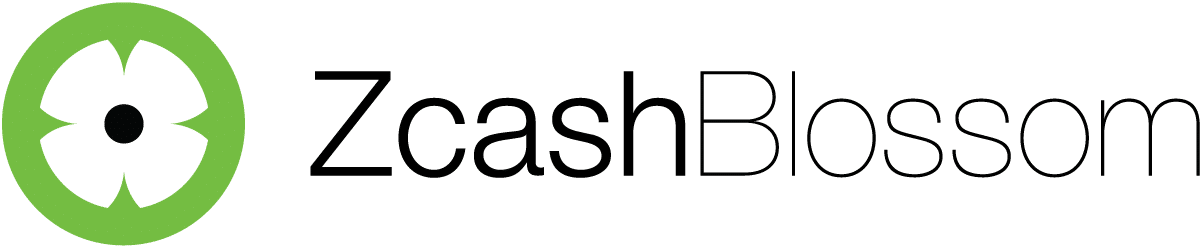 Full color Zcash Blossom horizontal logo