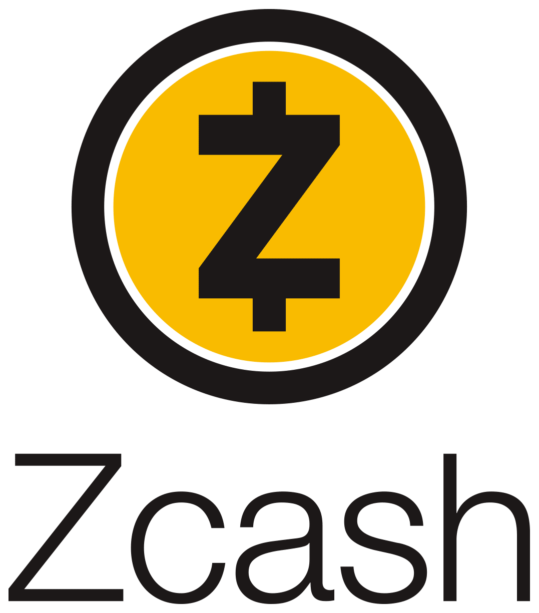 Full color vertical Zcash logo