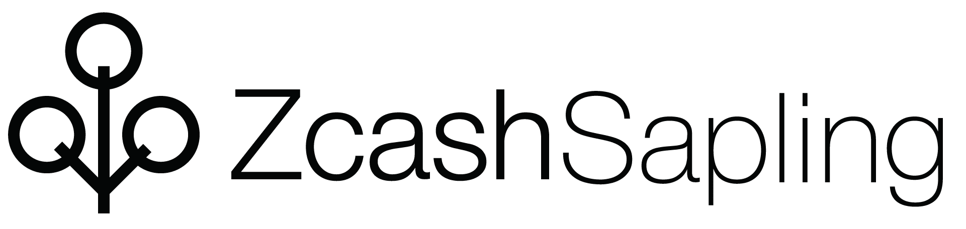 Black Zcash Sapling horizontal logo