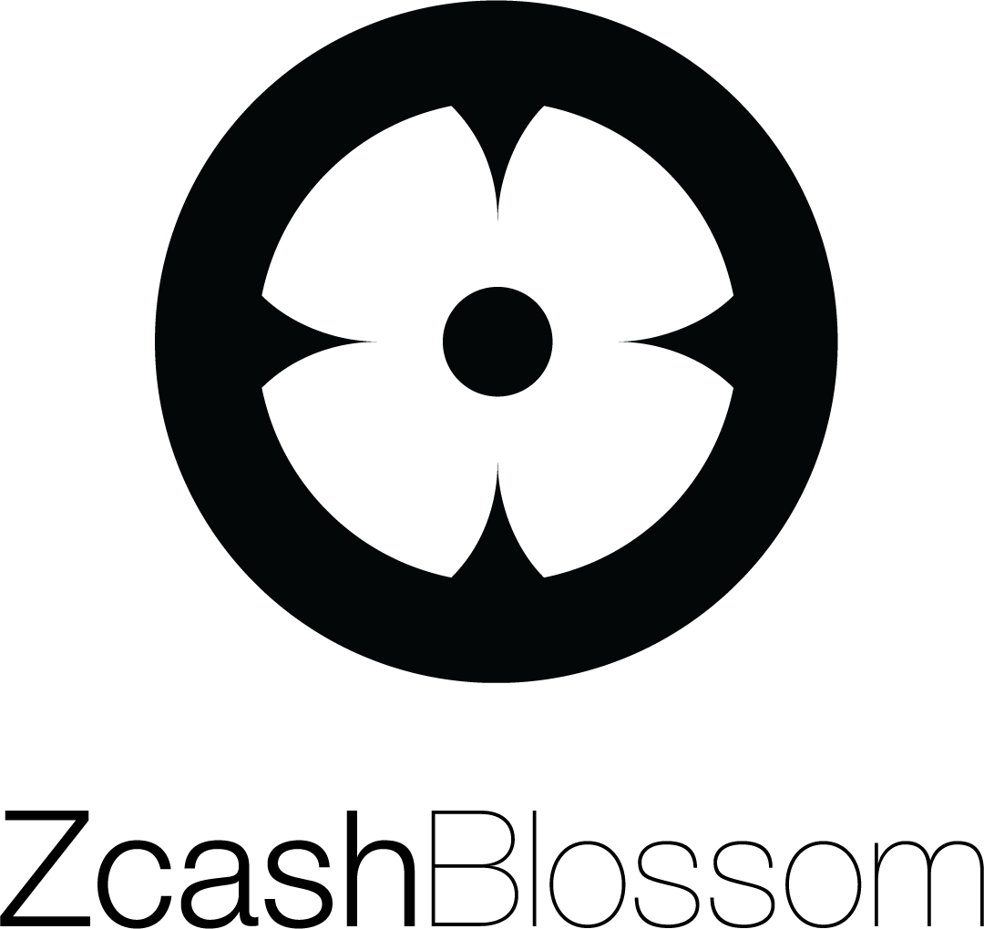 Black Zcash Blossom vertical logo