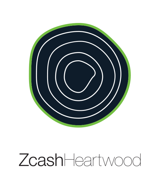 Full color Zcash Heartwood vertical logo