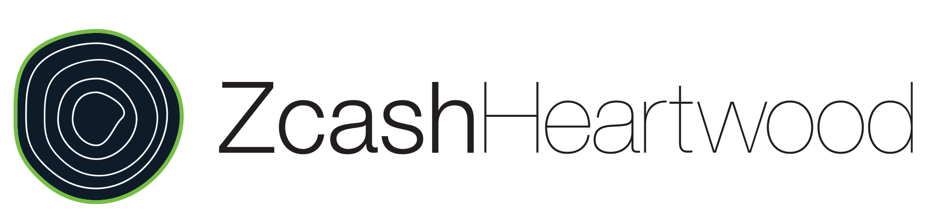 Full color Zcash Heartwood horizontal logo