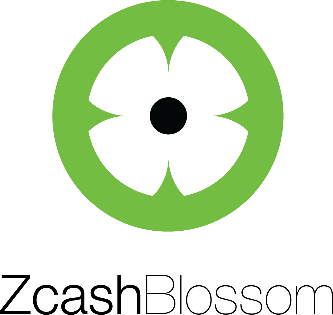 Full color Zcash Blossom vertical logo