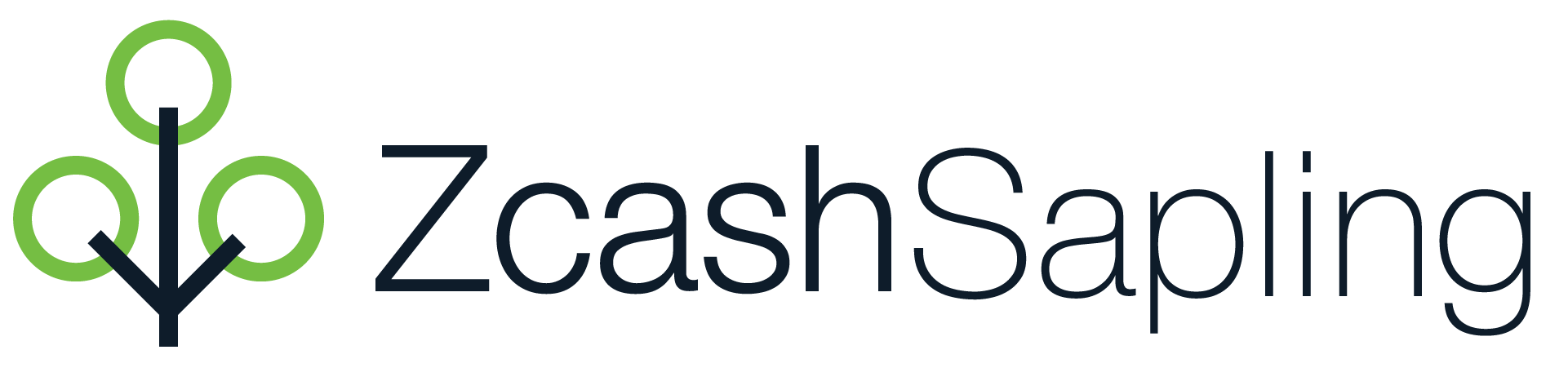 Full color Zcash Sapling horizontal logo