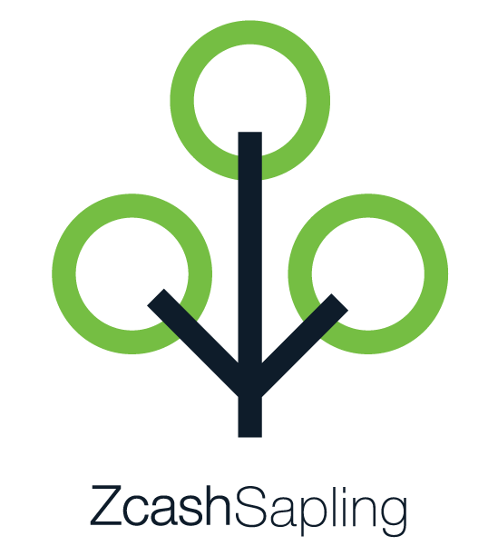 Full color Zcash Sapling vertical logo